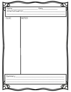 Cornell Notes Page  Of   Notes    Cornell Notes