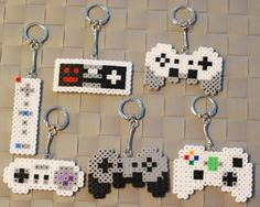 Video Game Controller Perler by merkittenjewelry on Etsy
