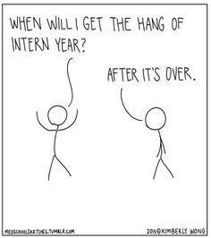 I overheard this during my third year of med school. I am 120% positive this will be true when it's my turn as the intern. (Drawn in the style of XKCD comics)