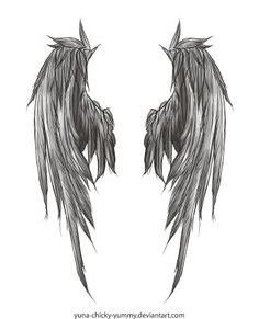 torn angel wings tattoo - Google Search