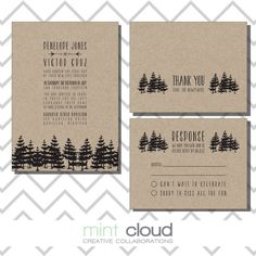 And this one!     DIY Printable Wedding Invitation Rustic  The by MintCloudLLC, $35.00