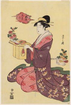 風流五節句 重陽 Chrysanthemum Festival, from the series Fashionable Five Festivals (Fûryû gosekku)