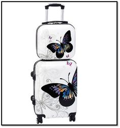 Carry on Luggage with Wheels Sets with Spinner Wheels Best Hardside Butterfly 2  #WorldTraveler