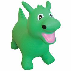 Jumping Hoppers Animal Kids GREEN DRAGON inflatable jumping TOY GREAT GIFT