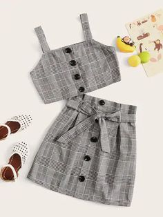 girl clothing sets – Page 23 – gagokid Cute Lazy Outfits, Crop Top Outfits, Kids Outfits Girls, Simple Outfits, Pretty Outfits, Stylish Outfits, Girls Fashion Clothes, Teen Fashion Outfits, Mode Outfits