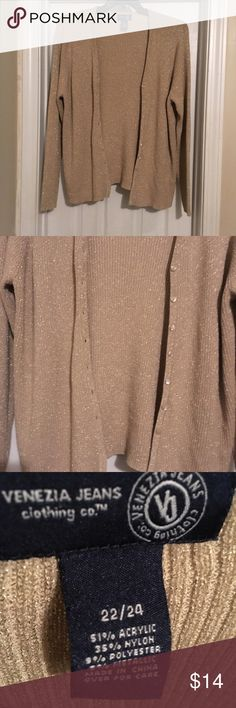 Gold Sparkle Cardigan Gold Sparkle Cardigan 22/24 Venezia Sweaters Cardigans