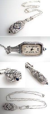 Art Deco Diamond & Sapph...
