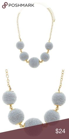 """NEW Boutique Thread Wrapped Ball Necklace Silver Thread wrapped ball necklace in silver and gold.  Approximately 16"""" length.  Lobster claw clasp with 3"""" extender.  New boutique item.  Bundle and save.  Happy Shopping! Jewelry Necklaces"""