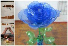 Transforma las botellas PET en flores decorativas. Lee más en La Bioguía.