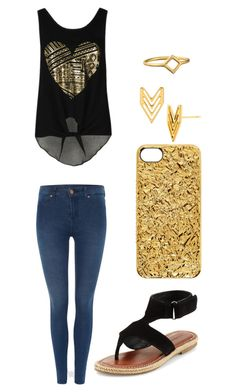 """Untitled #437"" by sampeszekfan ❤ liked on Polyvore featuring Dr. Denim, Bernardo, Marc by Marc Jacobs and Gorjana"