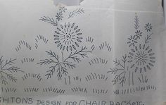 Daisies Iron-on Embroidery Transfer for Chair Back - Deightons S24725 by TheVintageSewingB on Etsy