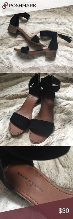 [Rock and Candy] Ankle Tassel Sandals EUC. Worn twice. Very comfy and so cute! Just don't need them anymore! Rock & Candy Shoes Sandals