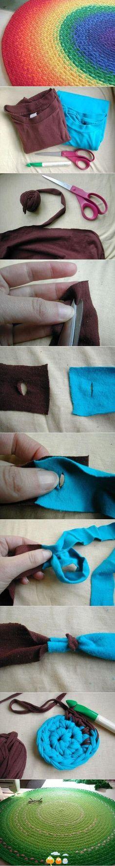 DIY t-shirt rug