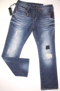 Buffalo David Bitton men's jeans style name King X slim fit bootcut size 33x32 #BuffaloJeans #BootCut