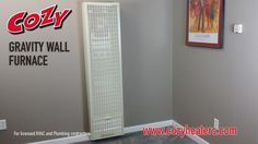 Cozy Gravity Wall Furnace Install: This video is for Licensed HVAC and Plumbing Contractors ONLY.  Cozy Gravity Wall Furnaces mount on any inside or outside wall (single wall only), providing both circulated and radiant heat in an economical package.