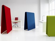 Acoustic a-frame screen. Great for education environments because theres no tripping hazard