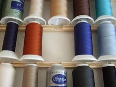 A common post in the longarm quilting forums is on & do you store your threads& So I thought I would share some pictures of my thread s. Quilting Room, Longarm Quilting, Sew Kind Of Wonderful, Thread Storage, Charm Quilt, Hobby Room, Sewing Studio, Sewing Rooms, Best Vibrators