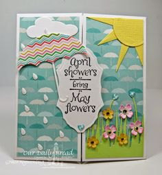 ODBD stamps- April Showers, designed by Grace Nywening