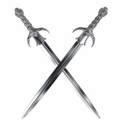 The story centers around a magical sword (what else XD). Swords And Daggers, Knives And Swords, Dual Swords, Armas Ninja, Sword Tattoo, Dagger Tattoo, Sword Fight, Medieval Weapons, Fantasy Weapons