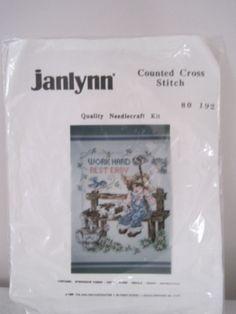 Stoney Creek Work Hard Rest Easy Count Cross Stitch Kit Unifinished Farm Janlynn #Janlynn #RayRaysRetroage