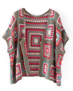 Modern Crochet by Patons, gran Crochet Jacket, Crochet Cardigan, Crochet Shawl, Knit Crochet, Crochet World, Crochet Designs, Crochet Patterns, Crochet Instructions, Crochet Fashion