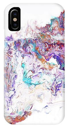 Abstract Fluid Acrylic Painting IPhone X Case for Sale by Jenny Rainbow Iphone 5c Cases, Fluid Acrylics, Fine Art Photography, Are You The One, Oriental, Shell, Presentation, Profile, Rainbow