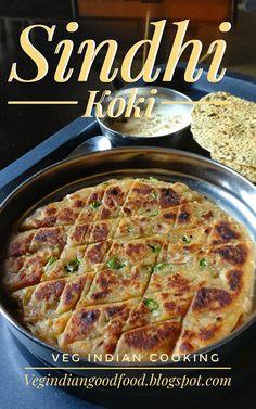 How to make Sindhi Basar Ji Koki Paratha Recipes, Paneer Recipes, Jain Recipes, Indian Snacks, Indian Food Recipes, Indian Breads, Instant Breakfast Recipe, Vegetarian Snacks, Vegetarian Breakfast Recipes Indian