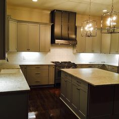 An other day, an other job complete!  Bianco Romano Leather   #graycabinets #farmsinks #interiordesign #faucets #lightfixtures #704granite   704-648-6190