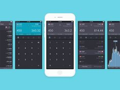 iCurrency Pad UI by Angela ⋅ Toffeenut Design