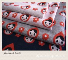 Little Red Riding Hood in Jacquard Jersey Knit Japanese Sewing, Japanese Fabric, Buy Fabric, Red Riding Hood, Book Crafts, Little Red, Textiles, Knitting, Knits