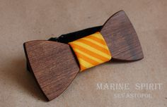 Wooden bow tie. Clio  wood: Acer  material: cotton  size: 10*4,5  price: $35 USD  https://www.etsy.com/listing/155090696/wooden-bow-ties?ref=shop_home_active