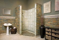 Tub and Shower Trends Bathroom Design - Choose Floor Plan & Bath Remodeling Materials HGTV Corner Shower Tile, Shower Tub, Shower Enclosure, Shower Door, Glass Shower, Bathroom Tile Designs, Bathroom Layout, Bathroom Ideas, Shower Ideas