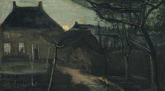 The Presbytery in Nuenen at Night - Vincent van Gogh 1885Dutch 1853-1890