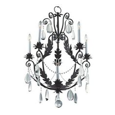 Glow Lighting Glow Lighting 554HD6L 6 Light Chateau Chandelier
