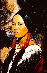 Lozen was the sister of mighty Apache war leader Victorio, and the most famous of the Apache War Women. Lozen was born in a section of New Mexico/Arizona/Northern Mexico known at that time as Apacheria, somewhere in the 1840s. She let it be known at a very early age that she had no interest in learning the women's duties of the tribe, and set out on the warrior's path - taught by her famous brother.