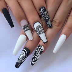 Dope Nail Designs, Cute Acrylic Nail Designs, Best Acrylic Nails, Drip Nails, Gel Nails, Stylish Nails, Trendy Nails, Fancy Nails, Cute Nails