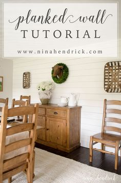 DIY Planked Wall Treatment Tutorial | How to create a farmhouse-inspired wall treatment for your home!