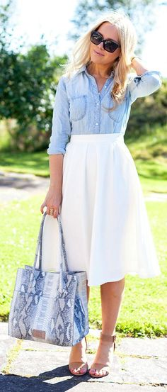 Love the skirt! Overall look is just ok