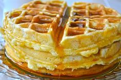 A light and airy waffle. Perfect for a weekend breakfast or to freeze and enjoy during the week.