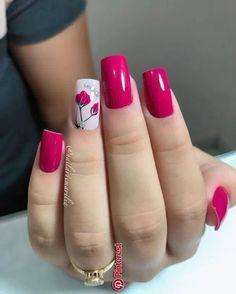 beautiful fall nail art design to copy now 2 ~ thereds.me : beautiful fall nail art design to copy now 2 ~ thereds. Elegant Nails, Stylish Nails, Fall Nail Art Designs, Pretty Nail Art, Nail Art Hacks, Flower Nails, Gorgeous Nails, Pink Nails, Pink Nail Art