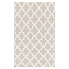 Bring a pop of pattern to your master suite ensemble or living room seating group with this hand-woven wool rug, showcasing a quatrefoil trellis motif in a l...