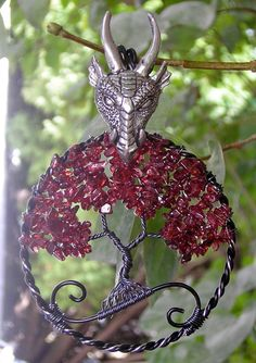 Game of Thrones (House Targaryen) Themed Tree of Life Pendant