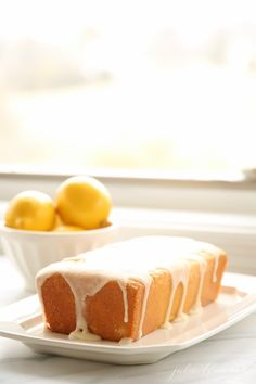 An easy, refreshing Lemon Glaze made with just 3 ingredients! You can whip up this amazing Lemon Glaze recipe in 5 minutes. Lemon Glaze Icing is perfect for breads, pound cakes, angel food cakes and so much more! Lemon Cake Icing, Lemon Icing Recipe, Glazed Icing Recipe, Lemon Glaze Cake, Pound Cake Glaze, Glaze Icing, Lemon Glaze Recipe For Pound Cake, Pound Cake Icing, Lemon Cakes