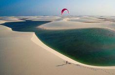 Photo from @diegocorreia via @meerkite #kitesurfing #kiteboarding #kitetravel #kitespots