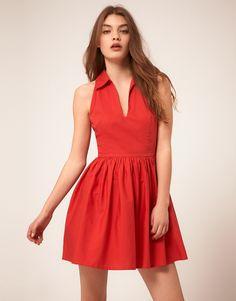Summer Dress With Collar