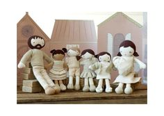 Natures Purest World Family Stuffed Dolls - 7 Piece Family