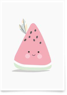 Kinderzimmerbild Melone