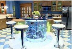 Fish tank kitchen table