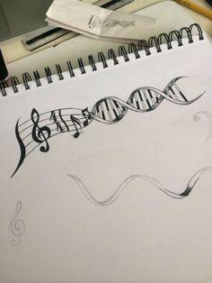 tatuajes de signos de musica en el cuello