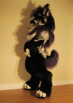 She Wolf by *Beetlecat on deviantART fuck I want a fursuit soooo bad. Fursuit Tutorial, Fantasy Creatures, Mythical Creatures, Fursuit Head, Wolf Fursuit, Fursuit Yiff, Fursuit Paws, Cosplay, Animal Costumes